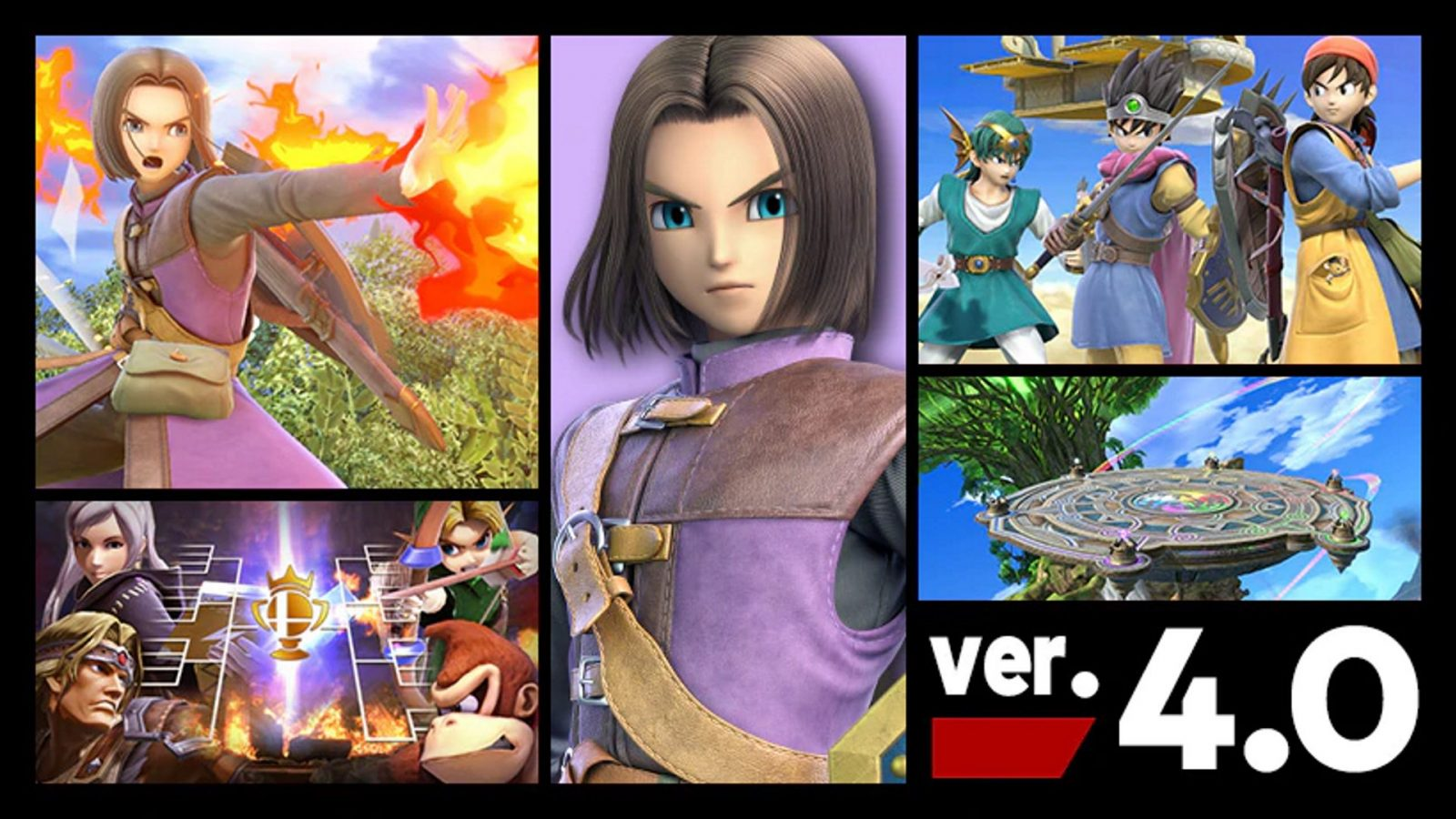 Dragon Quest's Hero Joins Super Smash Bros. Ultimate Today