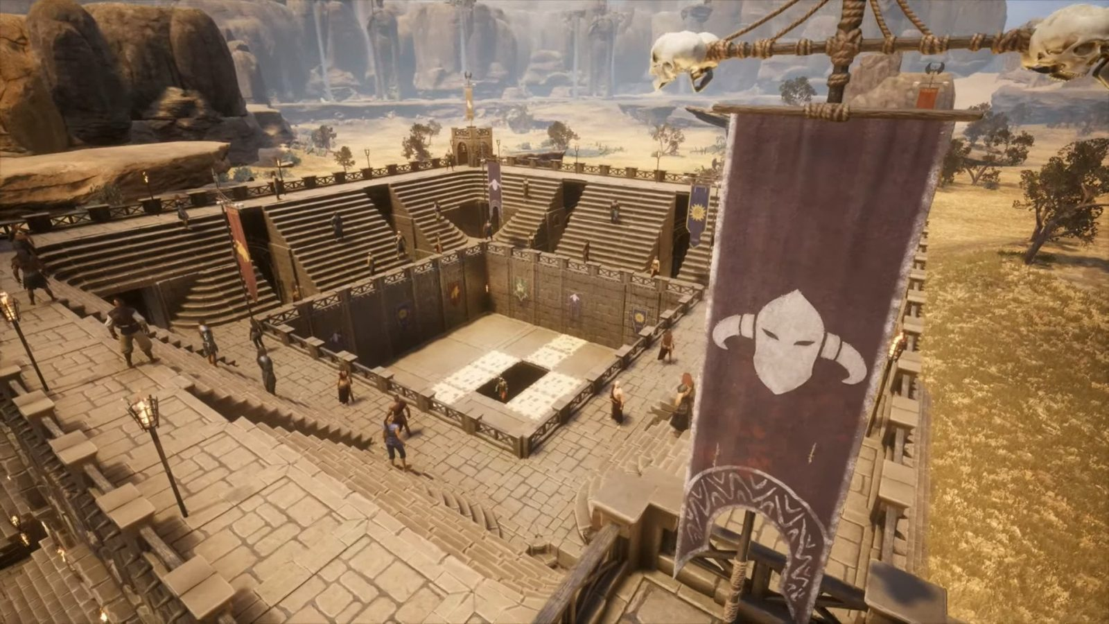 Conan Exiles Blood and Sand Pack Debuts Arenas and New Weapons