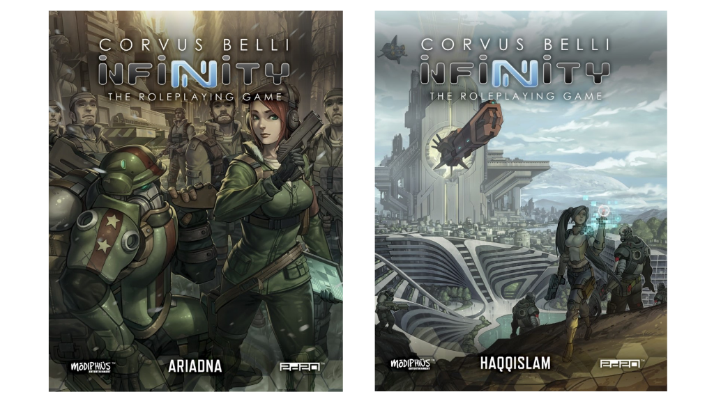 Off The Shelf: Infinity RPG Haqqislam and Ariadna Supplements