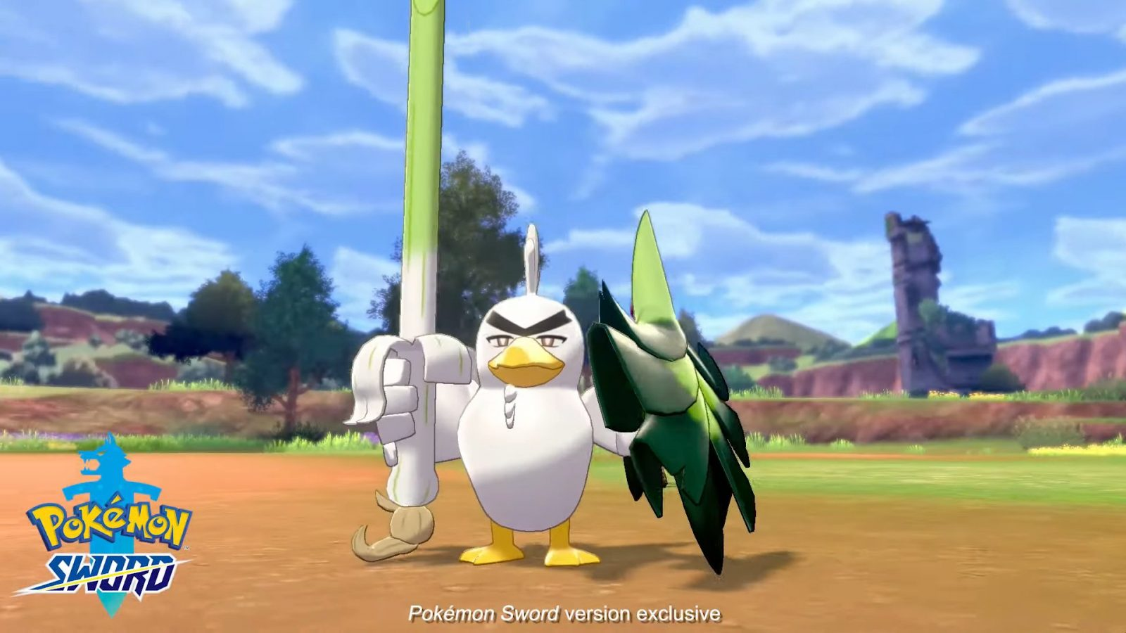 A Wild Sirfetch'd Appears; Exclusive to Pokemon Sword