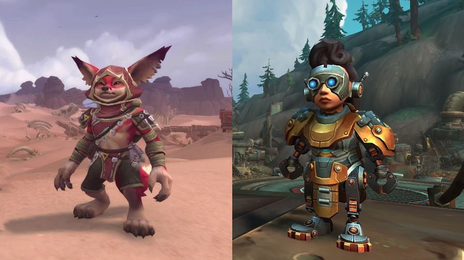 Next Update for World of Warcraft Adds Playable Foxes and Mechagnomes