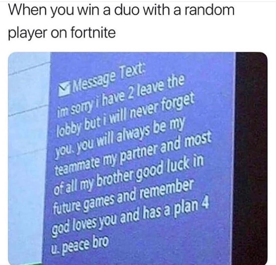 God's plan is there, bro!