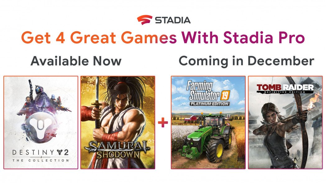 Stadia Pro Users Getting Two More 'Free With Pro' Games