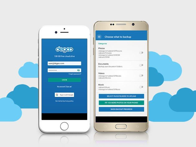 You can get 10TB of secure cloud backup from Degoo for only $90