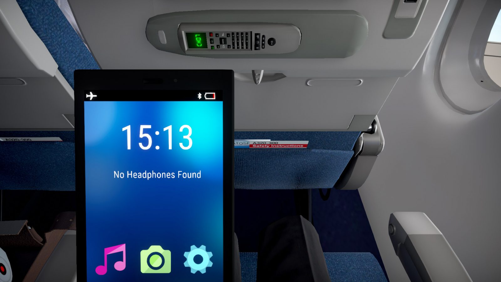 Airplane Mode simulates a six-hour flight in real time – as a passenger