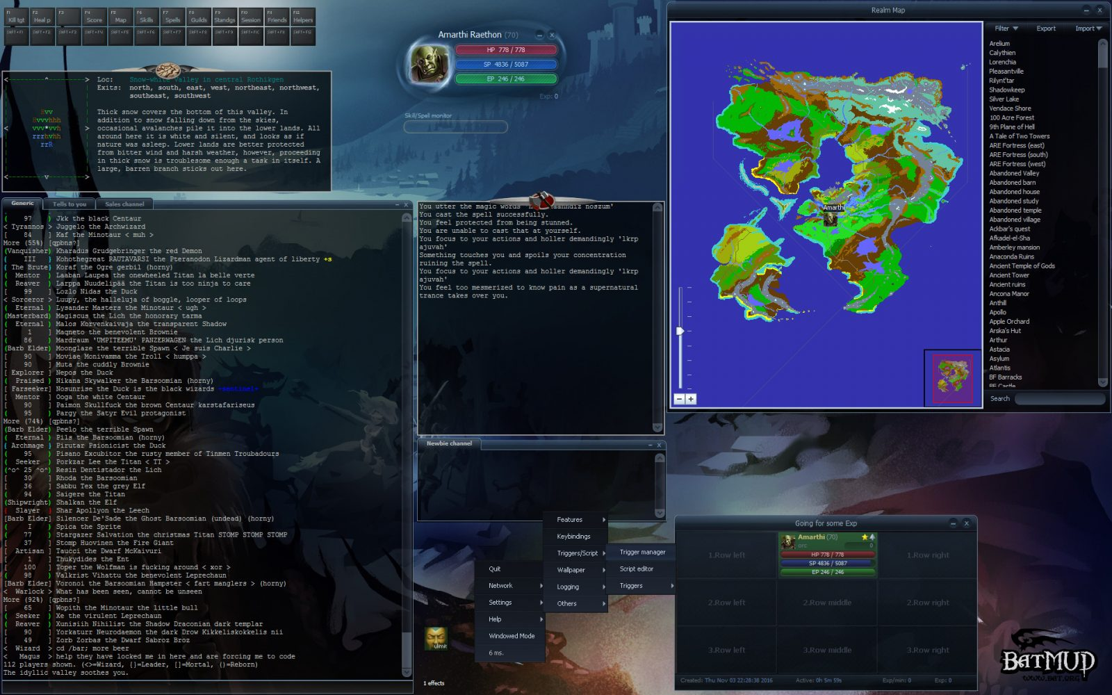 Give your GPU a break with BatMUD, a huge text-based MMO that's finally on Steam