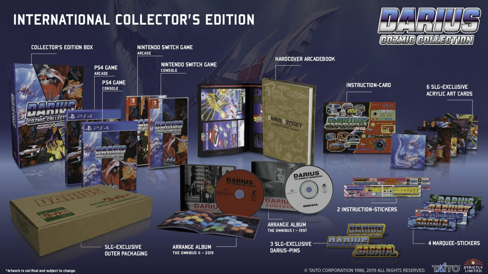 Limited Physical Western Release Announced for Darius Cozmic Collection on PS4 and Switch