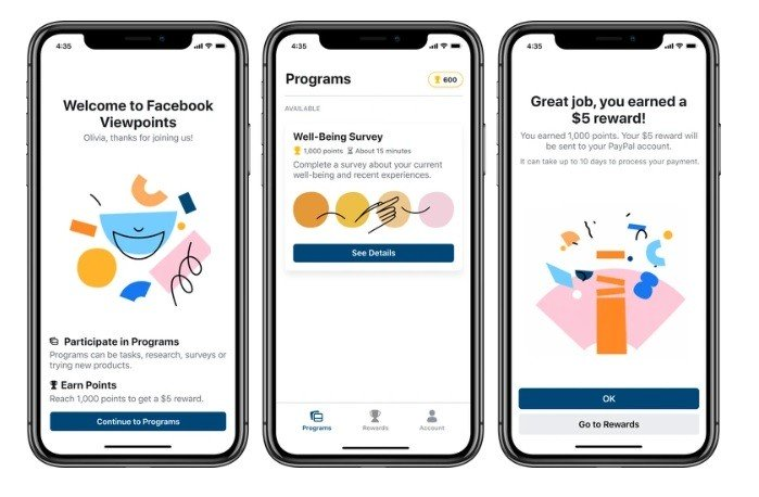 Facebook Viewpoints is an app that will pay you to partake in market research