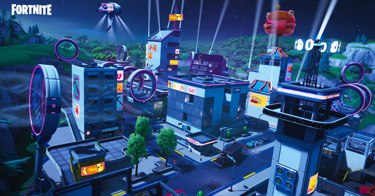Fortnite Season 9 Map Guide: Neo Tilted, Mega Mall, Pressure Plant, and More