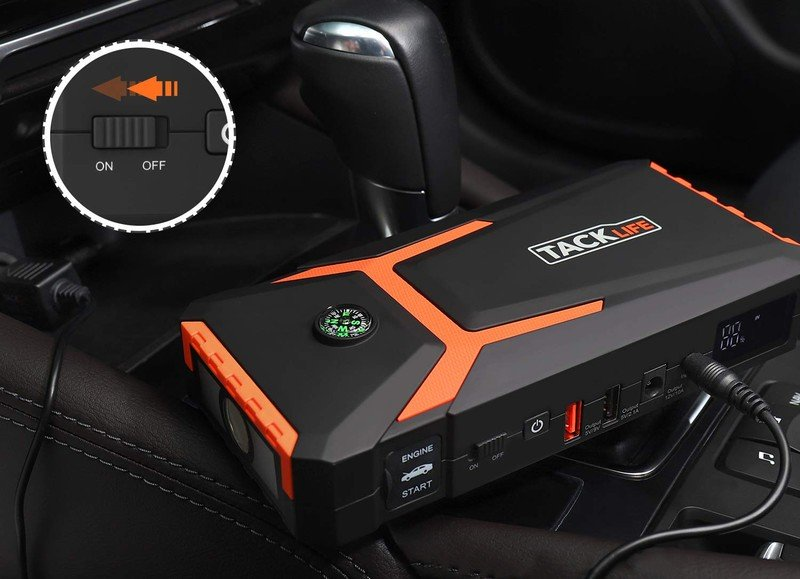 Never fear a dead battery with this Tacklife T8 car jump starter