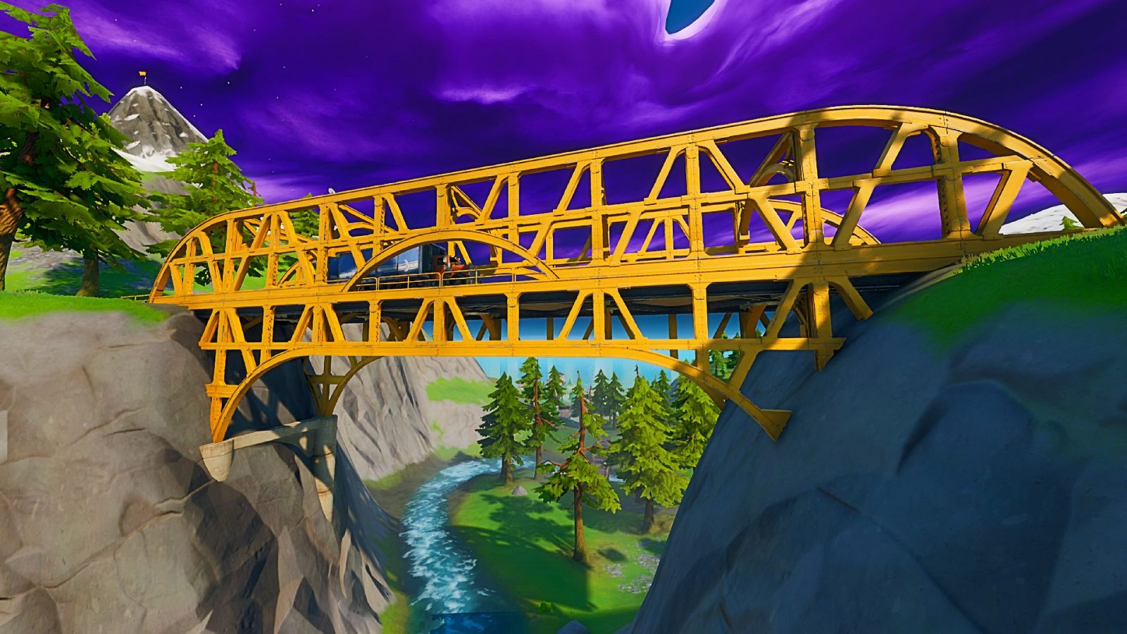 Fortnite steel bridges: where to dance at a green, red, and yellow steel bridge