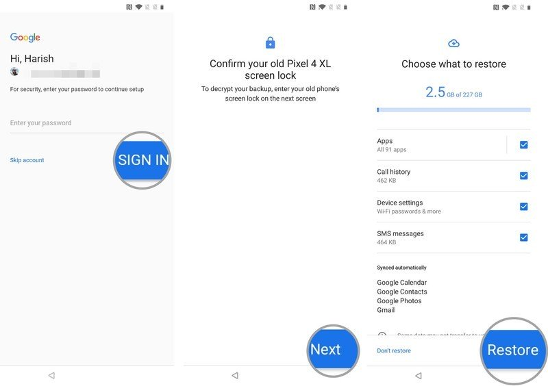 How to restore data and settings to your new Android phone