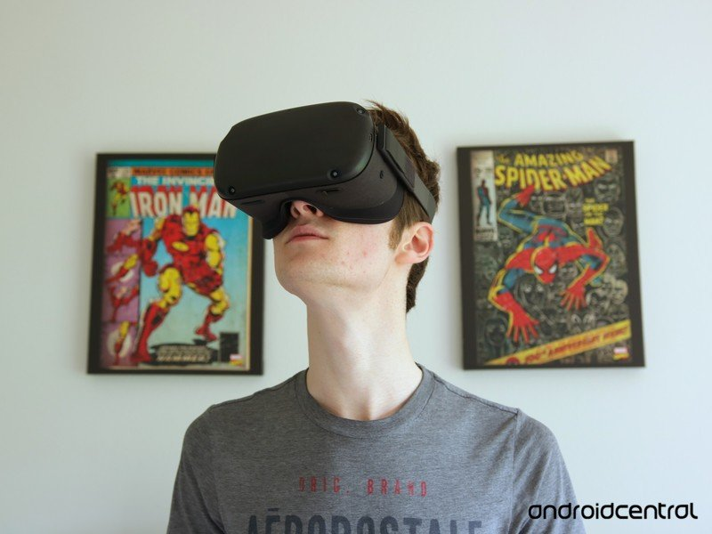 Oculus Quest looking up