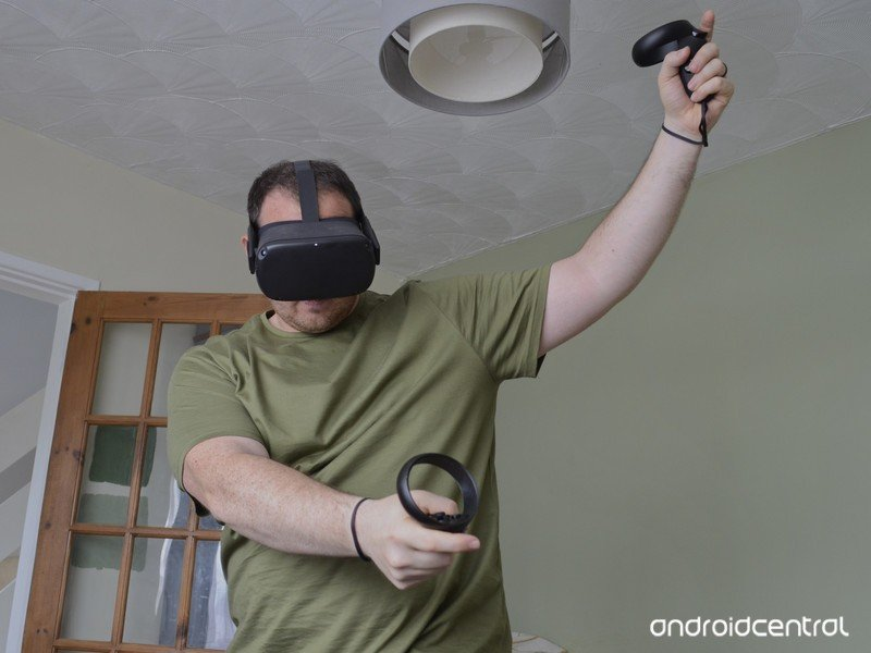 Oculus Quest swinging Touch Controllers