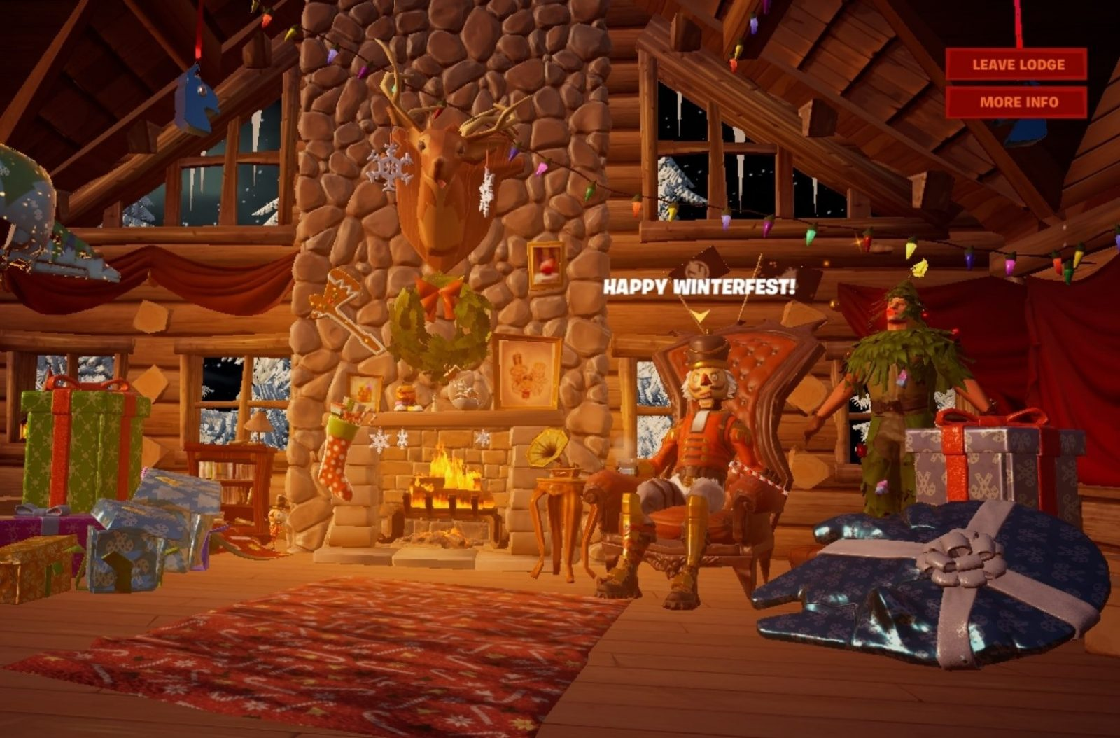We can now receive one of two free Christmas skins from the lodge!