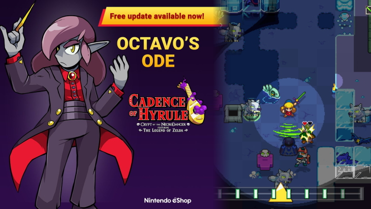 Cadence of Hyrule Free Update Available Now, Adds Dungeon Mode & Octavo Story Mode
