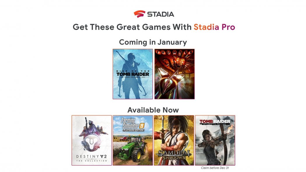 Stadia Pro Adds Rise Of The Tomb Raider, Thumper