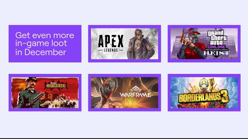 Twitch Prime December 2019 In-Game Loot and Free Games Revealed