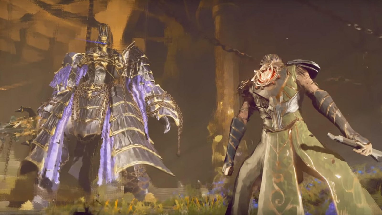 Armored Monsters and Flying Swords: Here's Your First Look at Babylon's Fall's Gameplay