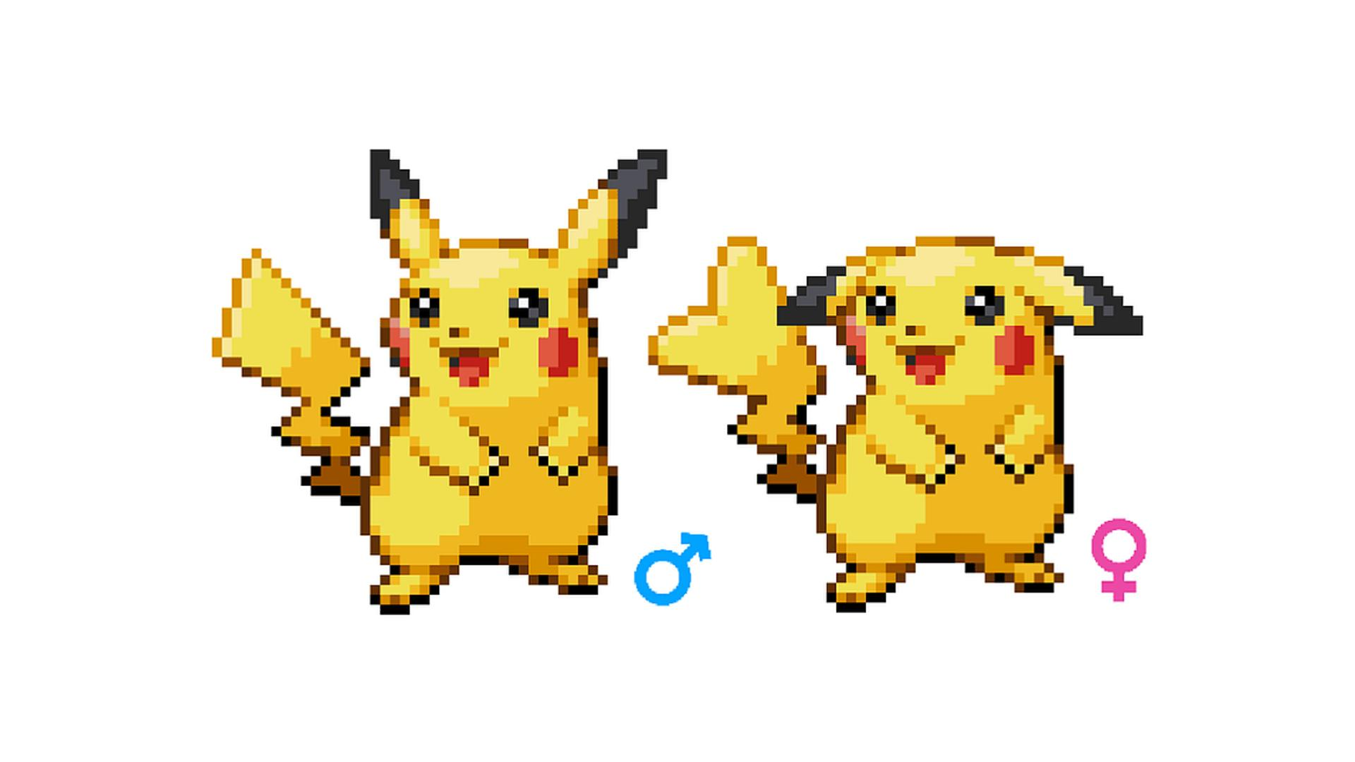 Male and Female Pokemon Used to Look Very Different Based on These Leaked Sprites