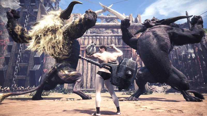 Monster Hunter World: Iceborne is getting a new quest where nearly nude Hunters fight two Rajang