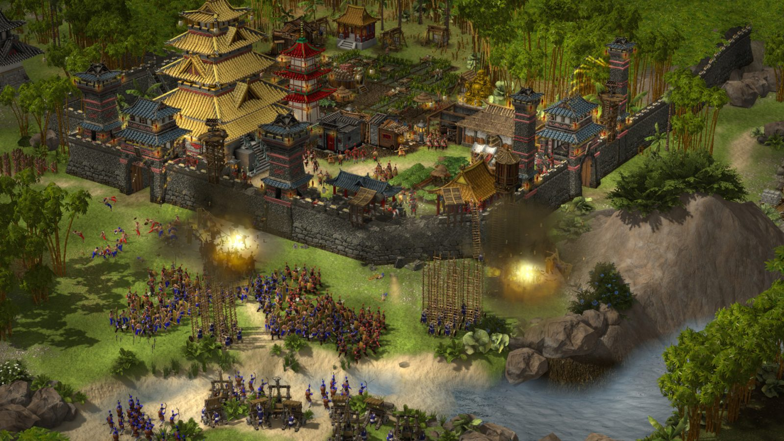 Stronghold: Warlords isn't just about RTS combat, it's about managing a feudal castle