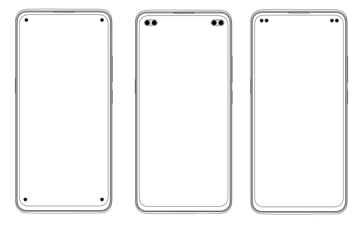 Vivo patents phone display with four hole punch cutouts