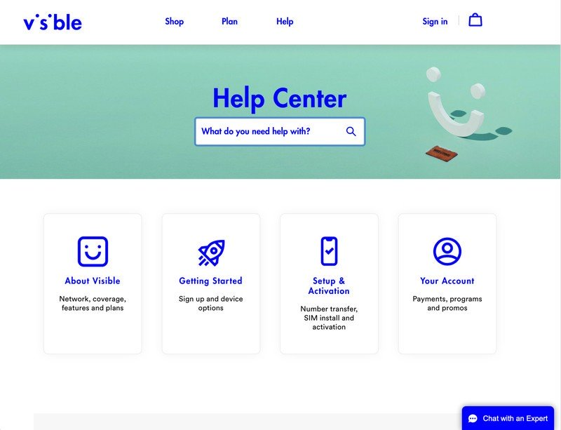 Visible help page