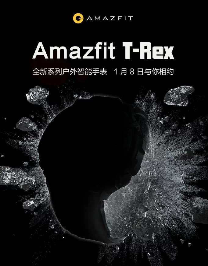 Here's your first look at Amazfit's upcoming T-Rex rugged smartwatch