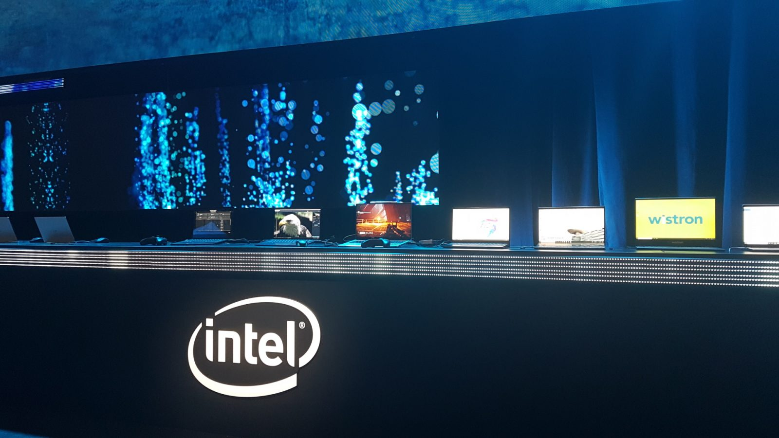 Intel Xe powered Future 2 on a skinny and lightweight laptop computer dwell on stage at CES 2020