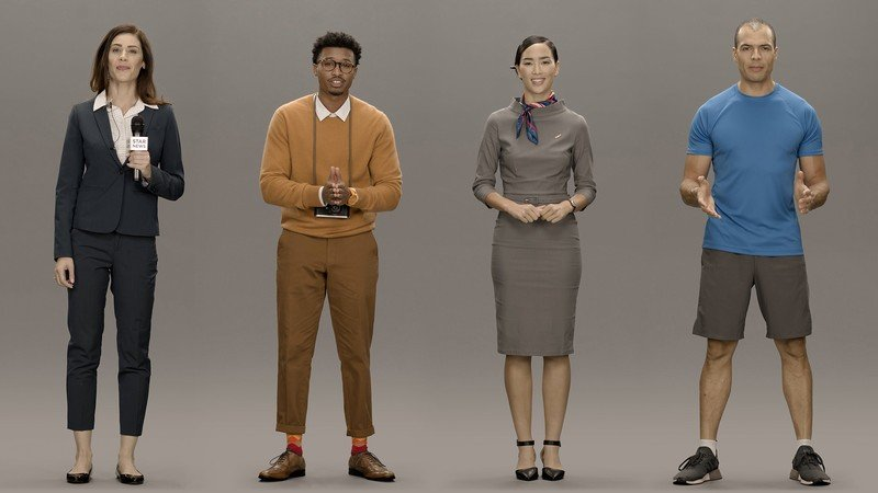 So…Samsung's apparently made synthetic people for CES 2020