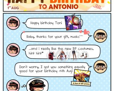 Joyful Birthday to our favorite gang-leader, Antonio!  So candy of Paloma to giv…